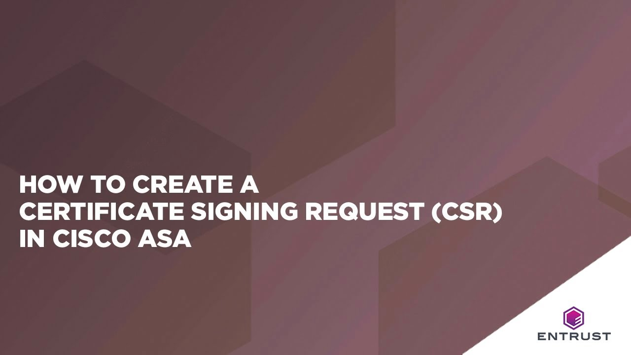 How to create a certificate signing request csr in cisco asa youtube how to create a certificate signing request csr in cisco asa entrust datacard 1betcityfo Image collections