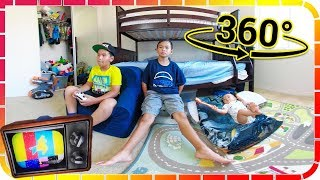 360 Fortnite Game Play with Cousin and Room Tour VR!!!
