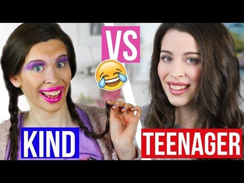 KIND vs TEENAGER: FAIL MAKE UP-ROUTINE! SCHMINKE FRÜHER vs HEUTE! | Vorstellung & Realität