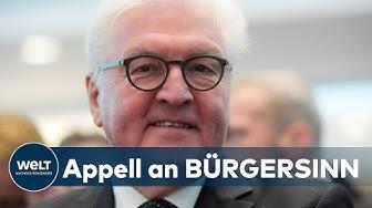 WELT DOKUMENT: In der Corona-Krise wendet sich Bundespräsident Steinmeier an die Bürger