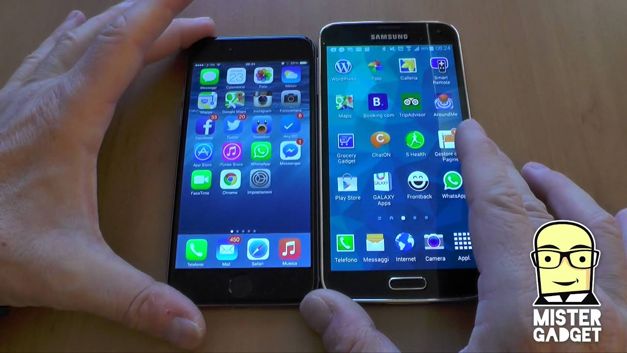 youtube iphone 6 iphone 6 e galaxy s5 il confronto di mistergadget net 13335