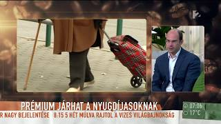 Ennyit jelent egy összegben a tervezett nyugdíjprémium - tv2.hu/mokka