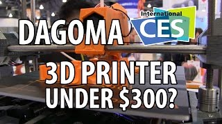 3D Printing at CES 2017 with Dagoma and their 3D Printer under $300
