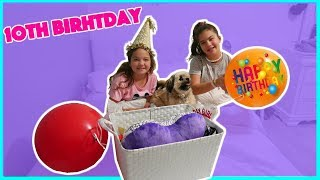 EMILY'S 10th BIRTHDAY SPECIAL MORNING PRESENT OPENING | SISTERFOREVERVLOGS #442