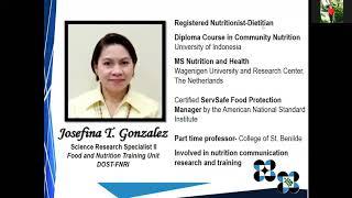 Training on Meal Management and Safe Food Handling Part 2 Webinar on Meal Planning