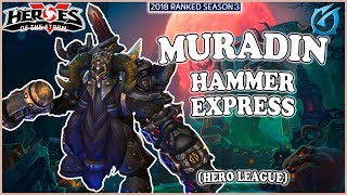 Grubby | Heroes of the Storm - Muradin - Hammer Express - HL 2018 S3 - Towers of Doom