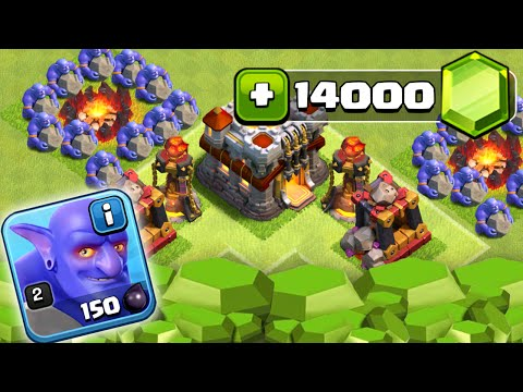 Clash of Clans – GEMMING NEW MARCH UPDATE! 14000 GEMS UNLOCKING BOWLER! (CoC Gemming Bowler Update)