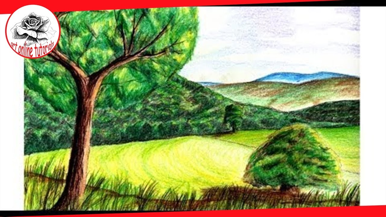 How to Paint a Realistic Landscape with Colored Pencil: Fine Art ...