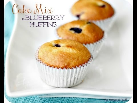 How To Make Cake Mix Blueberry Muffins | Bread | Six Sisters Stuff