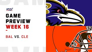 Baltimore Ravens vs Cleveland Browns Week 16 NFL Game Preview
