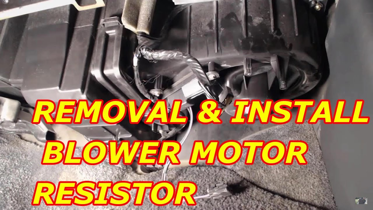 2000    Chevy    Tahoe Blower Motor Resistor Replacement  YouTube