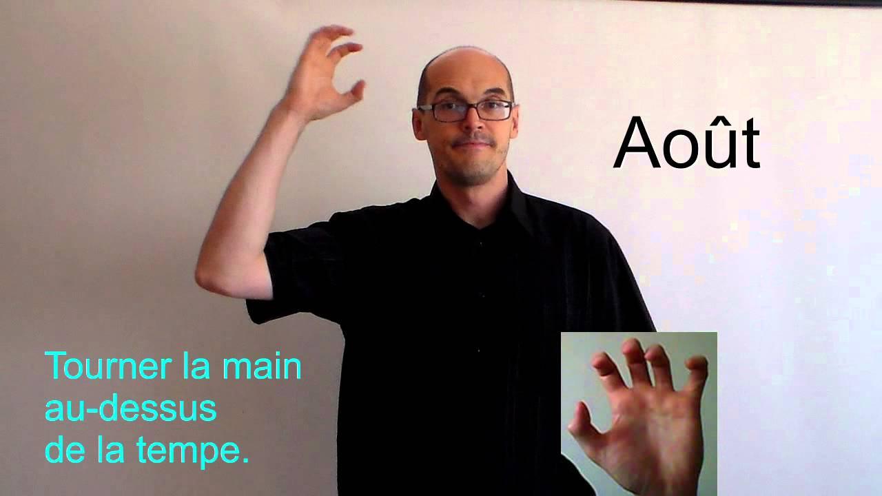 Très Les mois de l'année en langue des signes. - YouTube EE78