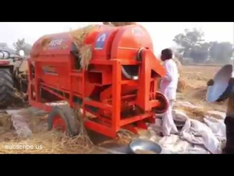 TRACTOR Harvester Reaper And Separator Combined IN ONE ★ Awesome MACHINERY