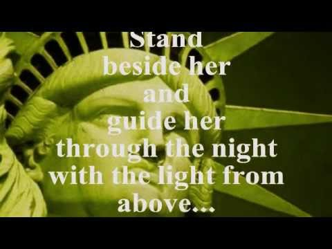 GOD BLESS AMERICA (Lyrics) - CELINE DION