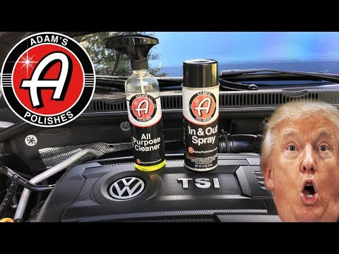 HOW TO CLEAN & DRESS AN ENGINE BAY....Without WATER