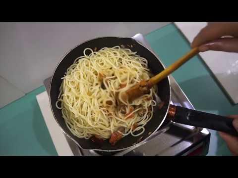 Eggplant Tomato Pasta Recipe Vegan - Spaghetti