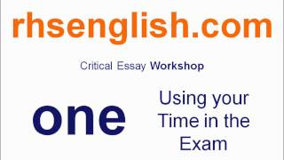 What was question two in the critical essay paper in higher english?