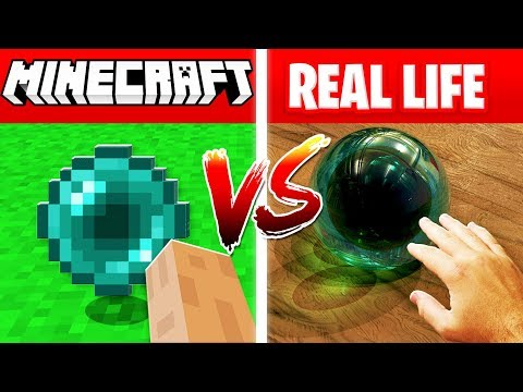 MINECRAFT ENDER PEARL IN REAL LIFE! (Minecraft vs Real Life)