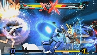 Ultimate Marvel vs Capcom 3 - PC Gameplay, Alt Costume Phoenix Wright - Haggar - Frank West