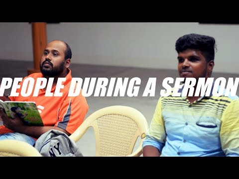 5 Types of People During a Sermon