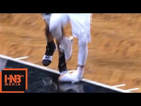 Dennis Schroder Left Ankle Injury / Hawks vs Nets / 2017 NBA Season