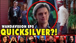Reactors Reaction To Seeing Pietro AKA Quicksilver On Wandavision Episode 5 | Mixed Reactions