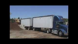 Backing up a Double Semi Tractor Trailer #5