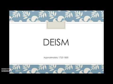 The Enlightenment and Deism