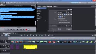 Easy : HOW TO MAKE A DECENT VIDEO with MAGIX MOVIE EDIT PRO  2013 (14)  LINK