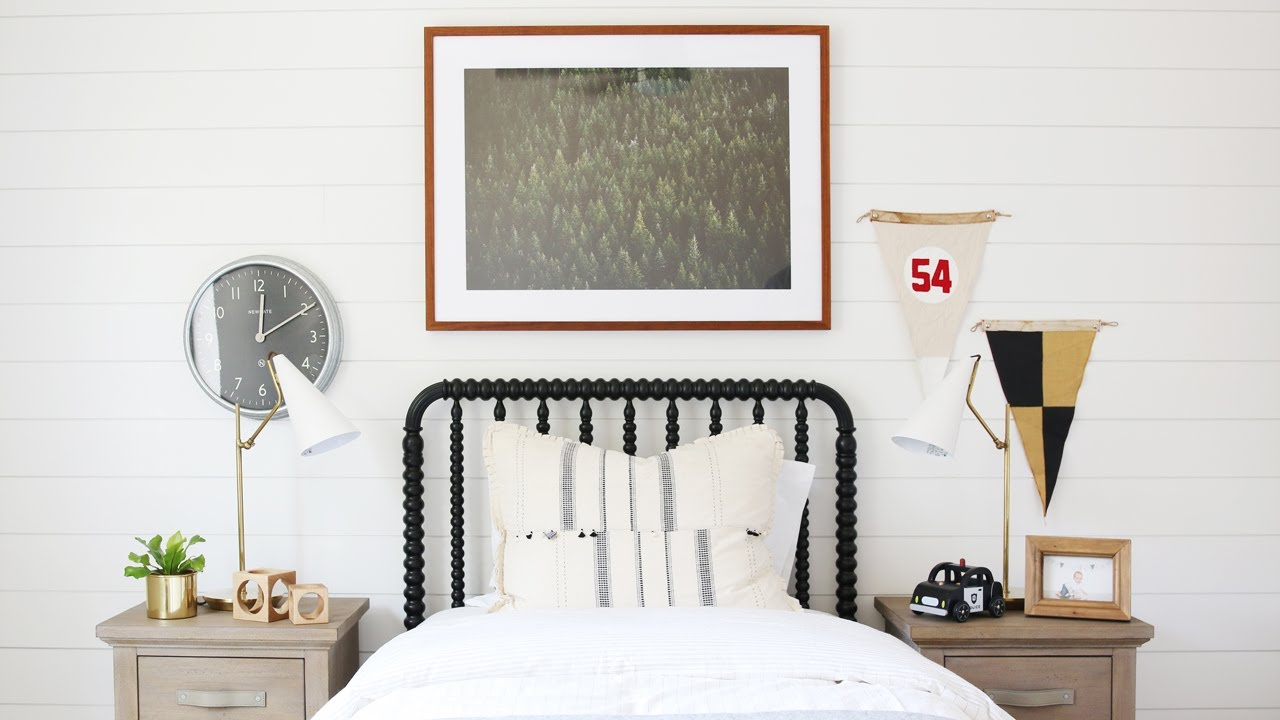 How to Install Shiplap (Before + After Boys Bedroom)