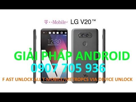 unlock sim network LG V20,V30,V35,V40,V50,G6,G7,G8 T-mobile via Device  Unlock app