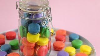 Mini Rainbow Macaron Recipe Tutorial