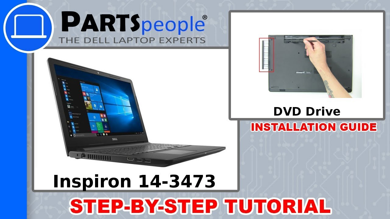 Dell Inspiron 14-3473 (P76G004) DVD Drive Replacement Video Tutorial