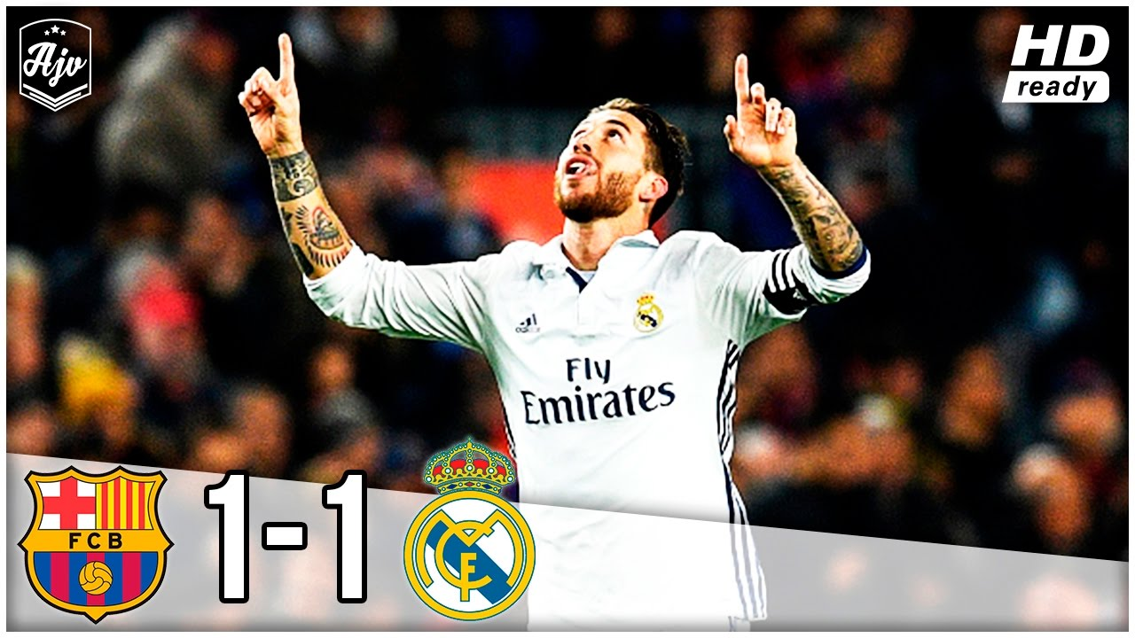 Fc Barcelona Vs Real Madrid 1 1 Match Highlights El Clasico 03