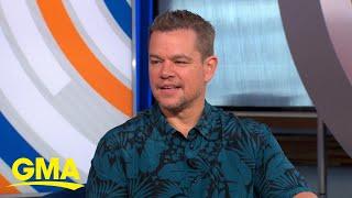 Matt Damon dishes on his new film 'Stillwater'