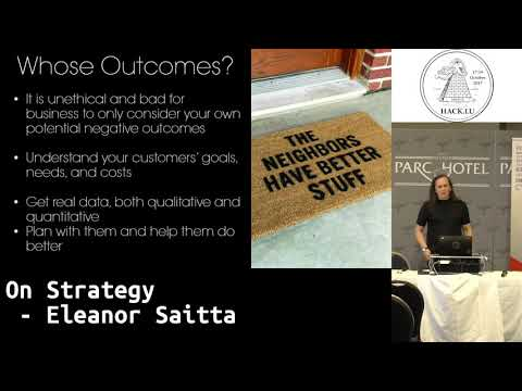 Hack.lu 2017 On Strategy by Eleanor Saitta