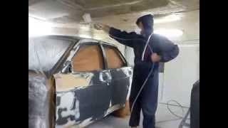 Процесс подготовки к грунтованию и покраска(Авторемонт в гаражных условиях. Это видео не учебное пособие, и не реклама, просто хочется поделиться с..., 2013-09-18T21:38:44.000Z)