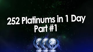 Most Platinum Trophies in 1 Day (25.08.2018) Part 1