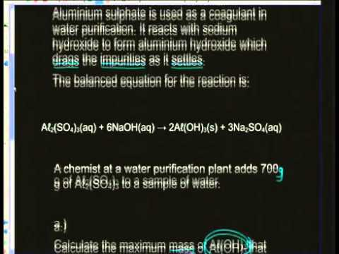 Grade 11 Physical Sciences: Chemical Calculations (Live)