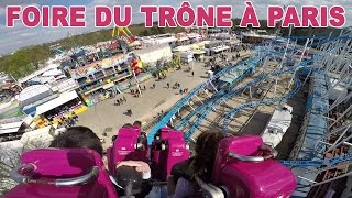 vlog fun  la foire du trone  paris le plus grand parc forain d europe fairground attractions