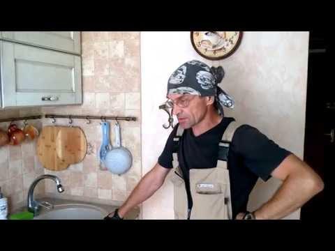 Кухня. 5.4 кв.м. Выдвижное кухонное ведро & безшумная кухонная вытяжка.