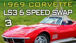 Chevrolet C3 Corvette LS Swap 6 Speed Manual Transmission Swap at V8 Speed and Resto Shop Part 3