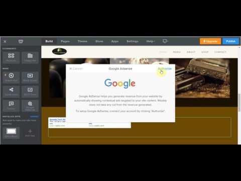Weebly Google AdSense