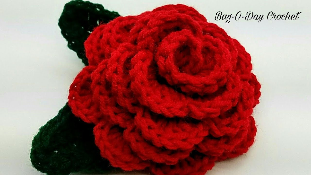 03138379b1b How To Crochet - 3D ROSE FLOWER | Forever Love Rose | BAGODAY CROCHET  Tutorial #447
