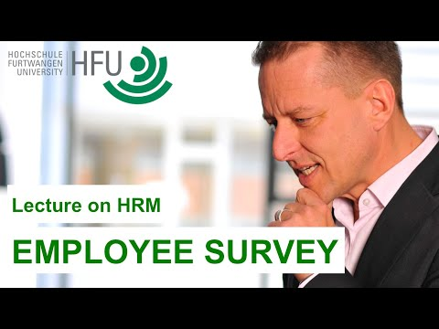 Human Resource Management Lecture Part 09 - Employee Survey