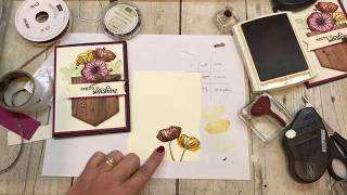 How to create a fun Pocket of Fall Flowers card