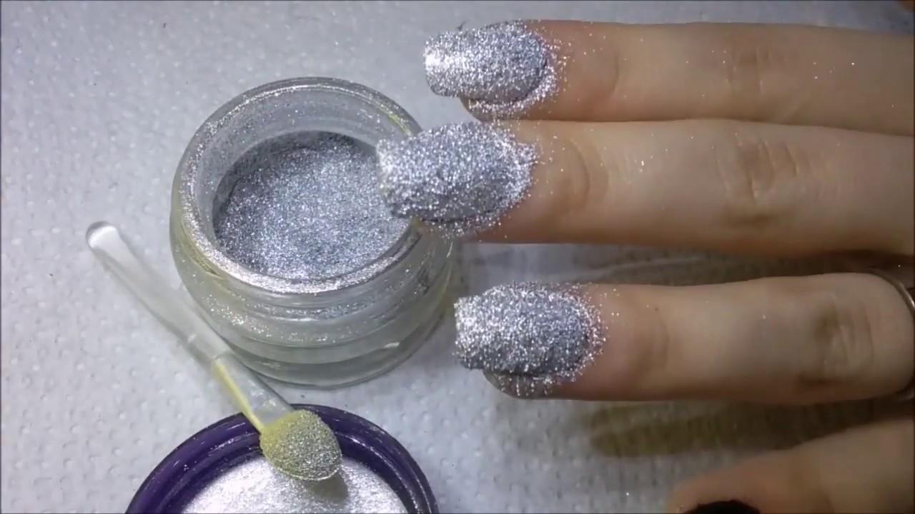 Decora tus uñas con polvo de espejo / Cromo - YouTube
