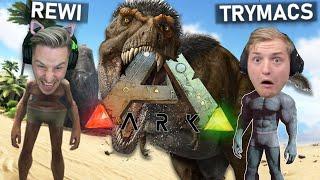 TRYMACS wird vom DÏNO gefressen! ERSTES MAL ARK SURVIVAL EVOLVED!