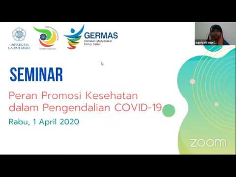 Seminar Rabuan S2 Ikm Peran Promosi Kesehatan Dalam Pengendalian Covid 19 Youtube