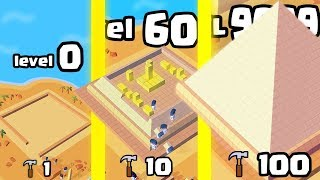 IS THIS THE HIGHEST LEVEL STRONGEST LANDMARK BUILDER EVOLUTION? (9999 PYRAMID)l Idle Landmark Tycoon